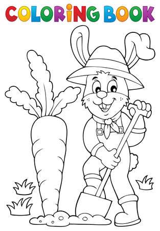Färbung Buch Kaninchen Gärtner Thema Lizenzfrei Nutzbare ...
