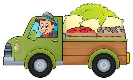 Farm truck theme image