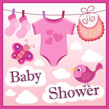 Baby shower theme image Illustration