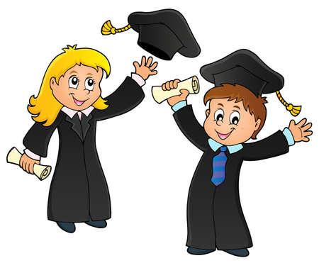 Graduation theme image 1 - eps10 vector illustration. Illustration