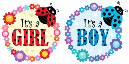 Is it a girl or boy topic 1 - eps10 vector illustration.