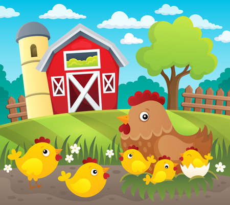 Chicken topic image 4 - eps10 vector illustration.