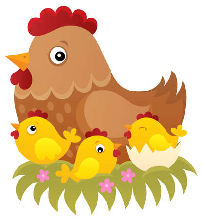 Chicken topic image 1 - eps10 vector illustration.
