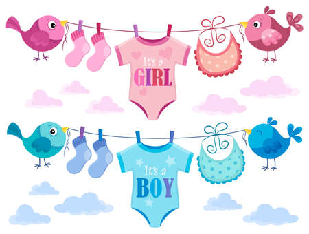 Is it a girl or boy topic 3 - eps10 vector illustration. Illustration