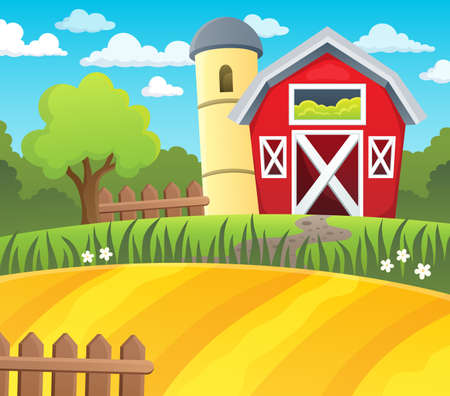tree farming: Farmland theme background 1 - eps10 vector illustration. Illustration