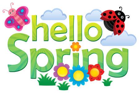 Hello spring theme image 3 - eps10 vector illustration. Illustration