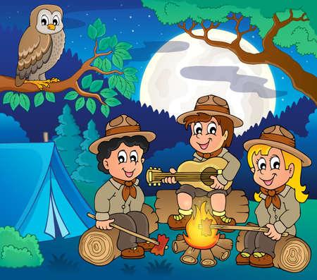 Children scouts theme image 5 - eps10 vector illustration. Illustration