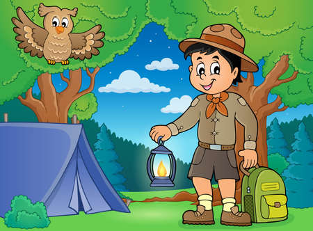 Scout boy theme image 4 - eps10 vector illustration.