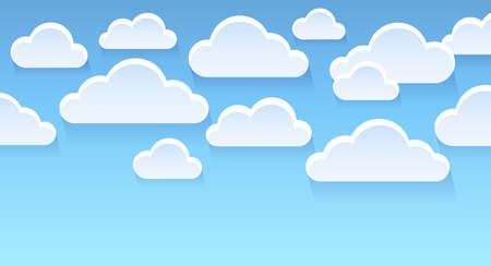 overcast: Stylized clouds theme image 2 - eps10 vector illustration.