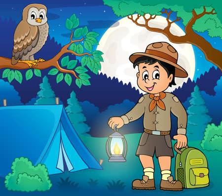Scout boy theme image 5 - eps10 vector illustration. Illustration