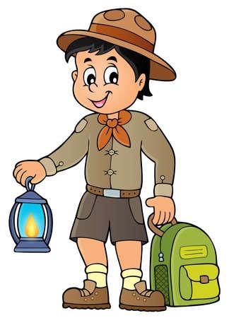 Scout boy theme image 3 - eps10 vector illustration. Illustration