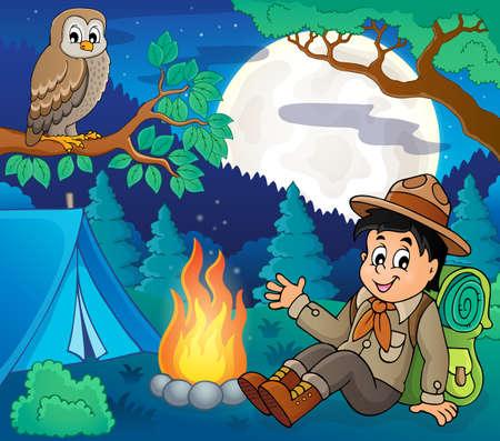Scout boy theme image 6 - eps10 vector illustration.
