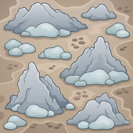 mineral stone: Rocks thematic image 1 - eps10 vector illustration.