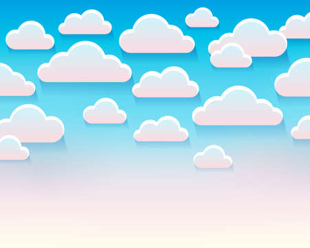 Stylized clouds theme image 5 - eps10 vector illustration.