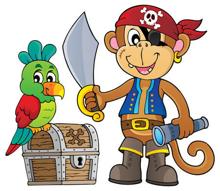 Pirate monkey topic  vector illustration.