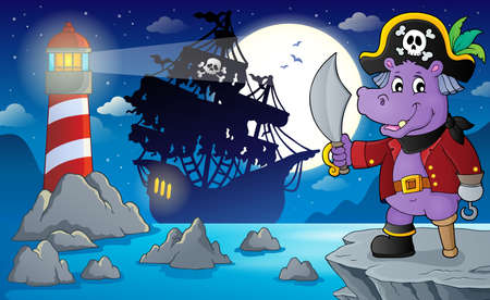 Night pirate scenery