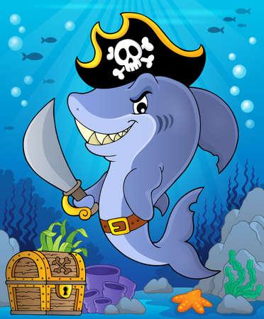 Pirate shark topic image 2 Illustration