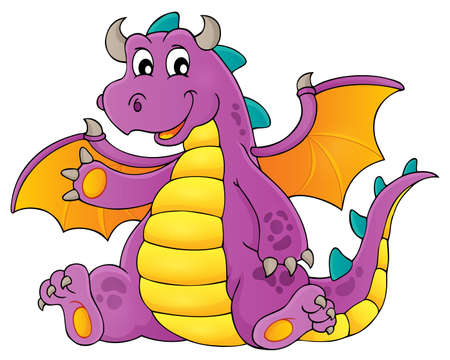 Happy dragon topic image 3 - eps10 vector illustration. Illustration