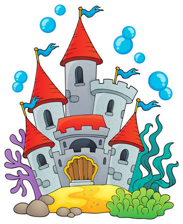 Underwater castle theme 1 - eps10 vector illustration.