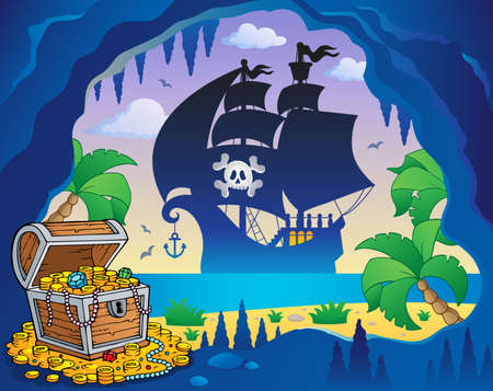 Pirate cove topic image 5 - eps10 vector illustration.