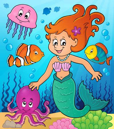 fish tail: Mermaid topic image 3 - eps10 vector illustration.