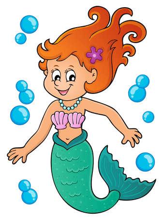 beauty girl pretty: Mermaid topic image 1 - eps10 vector illustration.