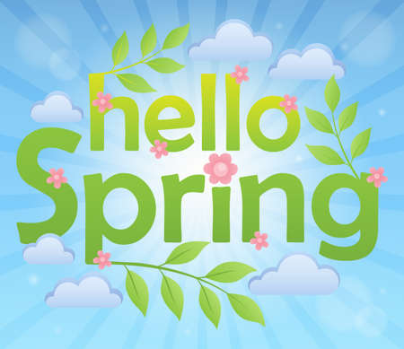 Hello spring theme image 5 - eps10 vector illustration.