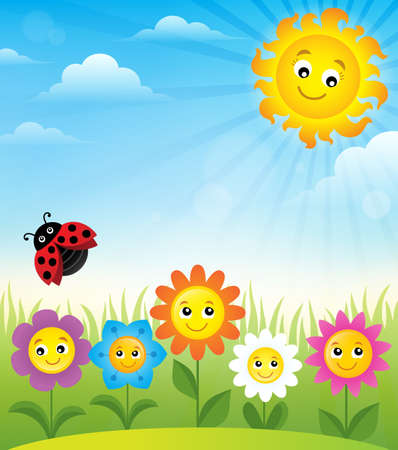 Spring topic background 8 - eps10 vector illustration.