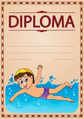 Dyplom tematu wizerunek 5 - eps10 wektoru ilustracja. Ilustracje wektorowe