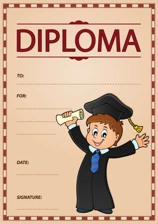 happiness or success: Diploma theme image 2 - eps10 vector illustration.
