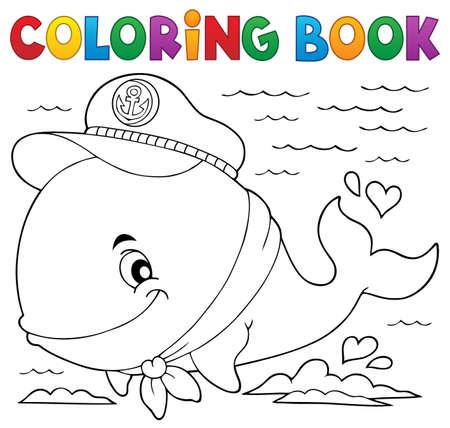 Libro Para Colorear Submarino Con La Ilustración Del Vector De ...