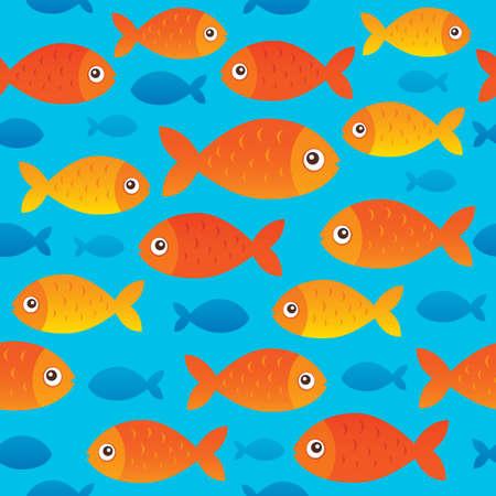 Seamless background stylized fishes 2 - eps10 vector illustration.
