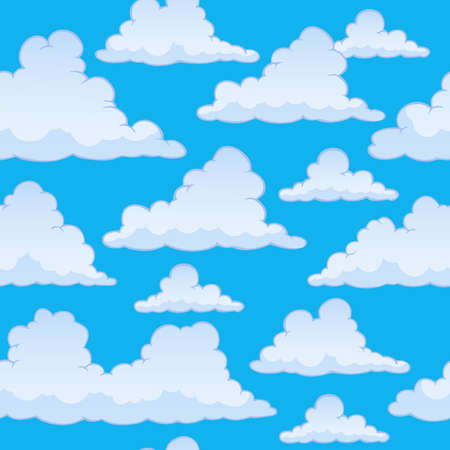 windy day: Stylized clouds seamless background 2 - eps10 vector illustration. Illustration