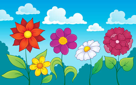 Flower topic image 7 - eps10 vector illustration.