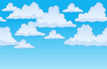 Horizontally seamless sky with clouds 1 - eps10 vector illustration.