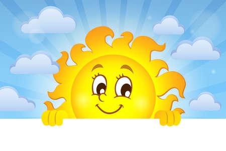 lurk: Happy lurking sun theme image 2 - eps10 vector illustration.