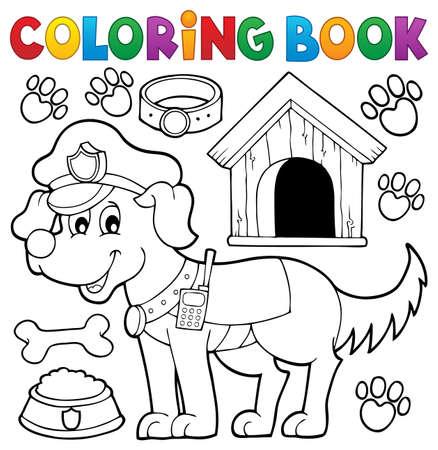 Dibujo Para Colorear Policial Coche Tema 1 - Eps10 Ilustración ...