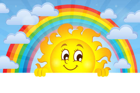 Happy lurking sun theme image 3 - eps10 vector illustration.