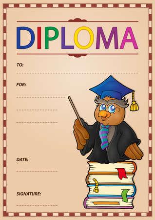 Diploma composition image 1 - eps10 vector illustration. Illustration