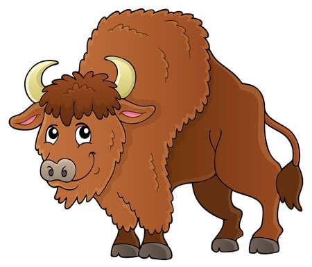 Bison theme image 1 - eps10 vector illustration.