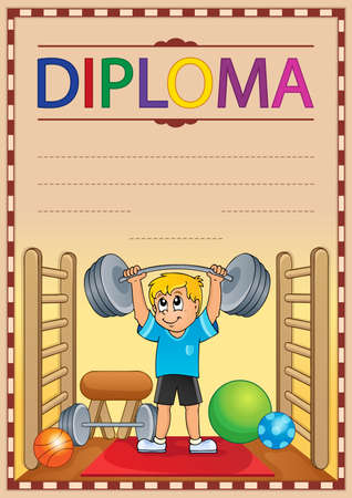 Diploma composition image 8 - eps10 vector illustration.