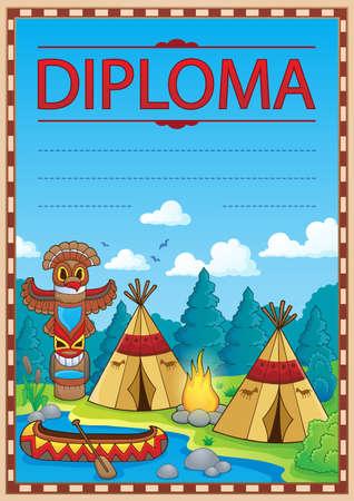 Diploma concept image 3 - eps10 vector illustration. Illustration