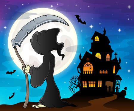 Grim reaper theme image 8 - eps10 vector illustration.