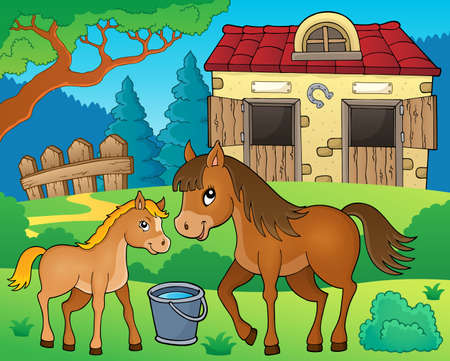 Horse topic image 6 - eps10 vector illustration. Illustration