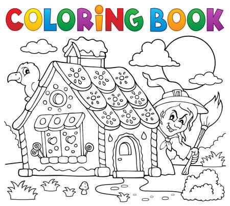 Dibujo Para Colorear Casa De Pan De Jengibre Tema 2 - Eps10 ...