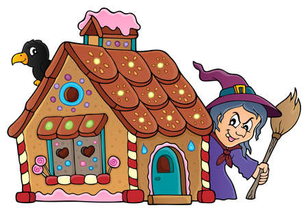 Gingerbread house theme image 2 - eps10 vector illustration.