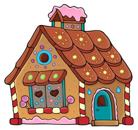 Gingerbread house theme image 1 - eps10 illustration vectorielle. Banque d'images - 82689241