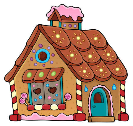 Gingerbread house theme image 1 - eps10 vector illustration.