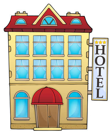Hotel theme image 1 - eps10 vector illustration. Illustration