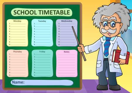 weekly: Weekly school timetable design 1 - eps10 vector illustration.